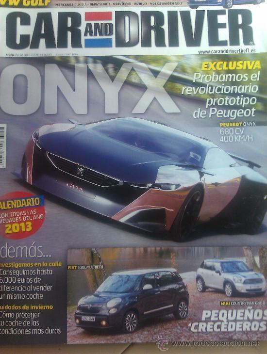 REVISTA CAR AND DRIVER Nº208 / ENERO 2013 (Coches y Motocicletas Antiguas y Clásicas - Revistas de Coches)