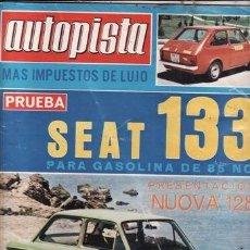 Coches: REVISTA AUTOPISTA Nº 906 AÑO 1976. PRUEBA: SEAT 133 GASOLINA. . Lote 35878185