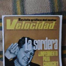 Coches: VELOCIDAD - REVISTA GRÁFICA DEL MOTOR - NÚM. 545 - FEBRERO 1972. SEAT, SKI-DOO, JUNCOSA, BRABHAM. Lote 35958407