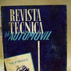 Coches: REVISTA, REVISTA TECNICA DEL ATOMOVIL, VOLKSWAGEN, TODOS LOS TIPOS, Nº 6, 1958. Lote 36404701