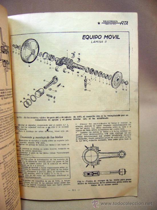 Coches: REVISTA, REVISTA TECNICA DEL ATOMOVIL, VOLKSWAGEN, TODOS LOS TIPOS, Nº 6, 1958 - Foto 8 - 36404701
