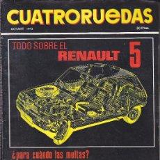 Coches: REVISTA CUATRORUEDAS Nº 106 OCTUBRE 1972 . Lote 36161866