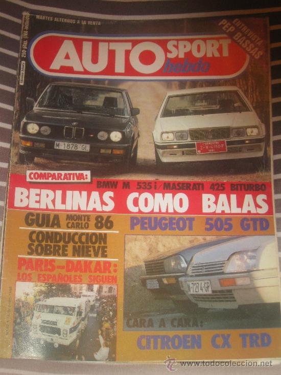 REVISTA AUTO HEBDO Nº 80 BMW M 535 CITROEN CX COCHES CLASICOS AUTOMOVIL FORMULA 1 RALLYE (Coches y Motocicletas Antiguas y Clásicas - Revistas de Coches)