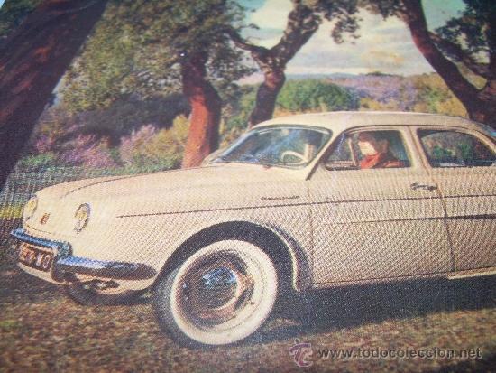 ANTIGUA POSTAL FOTOGRAFICA.......PRESENTACION DEL DAUPHINE...1956 (Coches y Motocicletas Antiguas y Clásicas - Revistas de Coches)