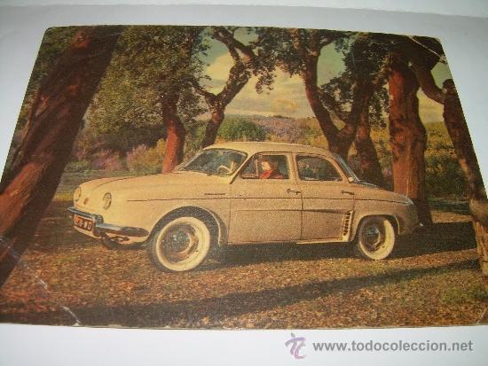 Coches: ANTIGUA POSTAL FOTOGRAFICA.......PRESENTACION DEL DAUPHINE...1956 - Foto 2 - 36273243