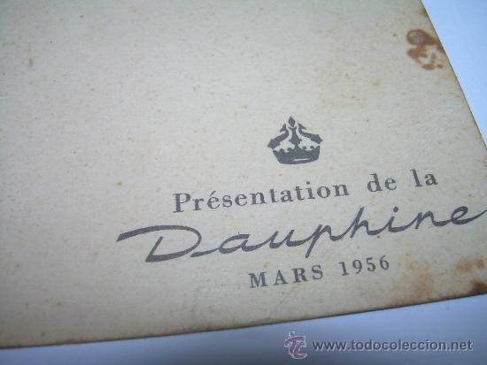 Coches: ANTIGUA POSTAL FOTOGRAFICA.......PRESENTACION DEL DAUPHINE...1956 - Foto 4 - 36273243