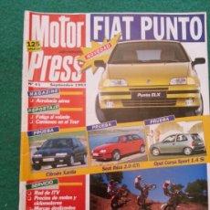 Coches: REVISTA DE MOTOR PRESS NUMERO 41 SEPTIEMBRE DE 1993. Lote 36355151