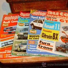 Coches: 4 REVISTAS DE AUTOMOVILES AÑOS 80.. Lote 36475797