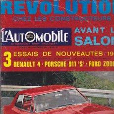 Coches: REVISTA L'AUTOMOBILE SEPTIEMBRE 1966. Lote 36487104