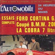 Coches: REVISTA L'AUTOMOBILEJUNIO 1966. Lote 36487119