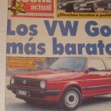 Coches: REVISTA COCHE ACTUAL 1988 LOS VW GOLF MAS BARATOS. Lote 31207344