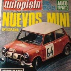 Coches: REVISTA AUTOPISTA 612 NUEVOS MINI - RALLYE ESPAÑA - MOTOR PEGASO Z102. Lote 36629848