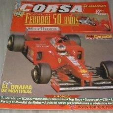 Coches: REVISTA DE COCHE CORSA ESPECIAL FERRARI 50 AÑOS. Lote 36637472