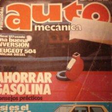 Coches: REVISTA AUTOMECANICA 120 SEAT PANDA - PEUGEOT 504 - EL SEAT 127 USADO - TURBOCOMPRESORES. Lote 36702931