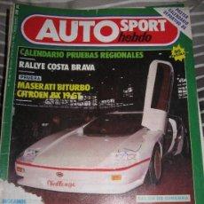 COCHES CLASICOS AUTOMOVIL FORMULA 1 RALLYE - REVISTA AUTO HEBDO Nº 59 CITROEN BX 19 GT