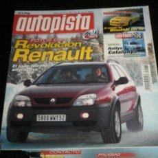 Coches: AUTOPISTA Nº 2175 - MARZO 2001 - RENAULT CLIO SPORT V6 / PEUGEOT 206 CC / CHRYSLER VOYAGER SE/ BMW . Lote 36723182