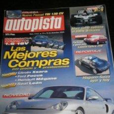 Coches: AUTOPISTA Nº 2161 - DICIEMBRE 2000 - VW PASSAT TDI / BMW 520I / PEUGEOT 607 / HISPANO SUIZA HS21. Lote 36723510