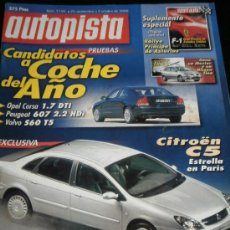 Coches: AUTOPISTA Nº 2150 - SEPTIEMBRE 2000 - VOLVO S60 T5 / OPEL CORSA DTI / PEUGEOT 607 / CITROEN C5 / M3. Lote 36723852