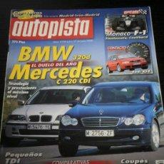 Coches: AUTOPISTA Nº 2134 - JUNIO 2000 - BMW 320D / MERCEDES C 220 CDI / HONDA ACCORD V6 / PEUGEOT 406 V6. Lote 36724266