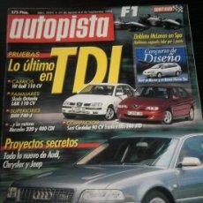 Coches: AUTOPISTA Nº 2094 - AGOSTO 1999 - BMW 740D / VW GOLF CABRIO TDI / SKODA OCTAVIA / ALFA ROMEO 146 JTD. Lote 52972500