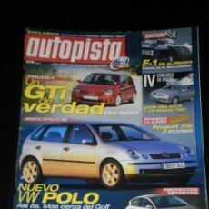 Coches: AUTOPISTA Nº 2194 - JUL 2001 - RENAULT CLIO SPORT / JAGUAR X TYPE 2.5 / VOLVO S60 2.4T / PEUGEOT 206. Lote 36737743