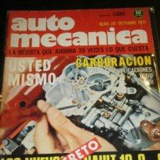 AUTOMECANICA Nº 26 - OCT 1971 - REVISTA AUTO MECANICA / RENAULT 12 / RENAULT 8 / RENAULT 6
