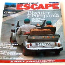 Coches: ESCAPE CONDUCIR Y VIAJAR LA VANGUARDIA JUN 2001, BISCUTER Y COMPAÑIA MICROCOHES ANTES DEL 600. Lote 37066889