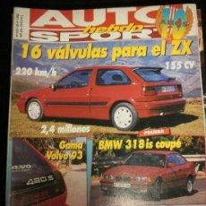 Coches: AUTO HEBDO SPORT Nº 383 - SEP 1992 - CITROEN ZX / BMW 318IS COUPE / NISSAN SERENA / LANCIA THEMA. Lote 37477771