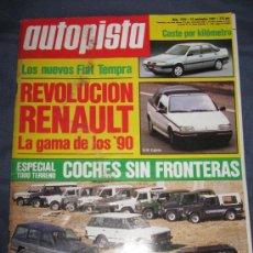 Coches: QUEX COCHES AUTOMOVIL RALLYE FORMULA 1 - REVISTA AUTOPISTA Nº 1584 ESPECIAL TODO TERRENO. Lote 37494614