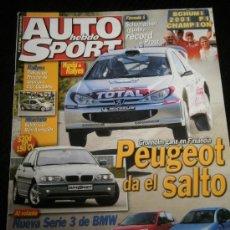 Coches: AUTO HEBDO SPORT Nº 834 - SEP 2001 - BMW SERIE 3 / MERCEDES SLK 32 AMG / ALFA 147 JTD / SEAT TANGO. Lote 37613492