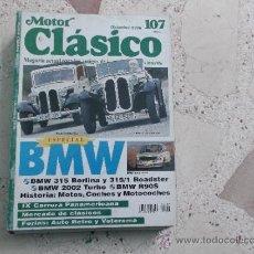 Voitures: MOTOR CLASICO Nº 107, BMW, AUTO RETRO Y VETERANA, DICIEMBRE-96. Lote 58486843