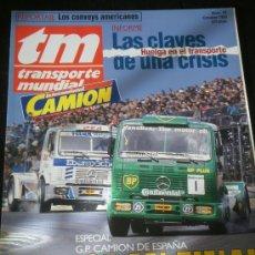 Coches: TRANSPORTE MUNDIAL TM Nº 76 - ESPECIAL GP CAMION ESPAÑA / HUELGA TRANSPORTES. Lote 37820020