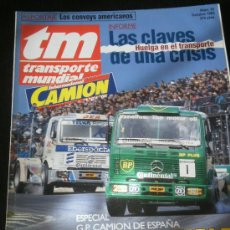 Coches: TRANSPORTE MUNDIAL TM Nº 76 - ESPECIAL GP CAMION ESPAÑA / HUELGA TRANSPORTES. Lote 37820025