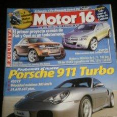 Coches: MOTOR 16 Nº 911 - ABR 2001 - RENAULT CLIO SPORT V6 / PORSCHE 911 TURBO / NISSAN Z / BMW SERIE 3. Lote 37946774