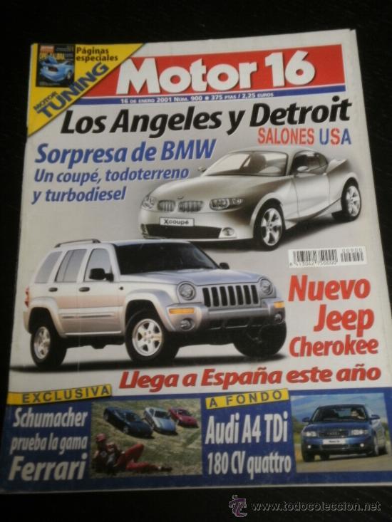 MOTOR 16 Nº 900 - ENE 2001 - AUDI A4 / RALLYE PARIS DAKAR / NISSAN ALMERA TINO / MICHELIN FORMULA 1 (Coches y Motocicletas Antiguas y Clásicas - Revistas de Coches)