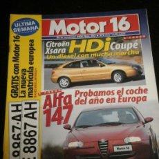 Coches: MOTOR 16 Nº 893 - NOV 2000 - ALFA ROMEO 147 / MERCEDES SLK 32 AMG / SUBARU IMPREZA / CITROEN XSARA. Lote 37947117