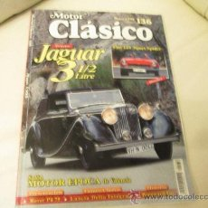 Coches: MOTOR CLASICO Nº 136 FIAT 124 SPYDER, JAGUAR 3 1/2 LITRES... Lote 37960407