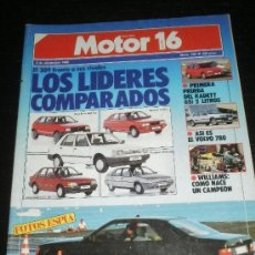 Coches: MOTOR 16 Nº 163 - DIC 1986 - MERCEDES 300 CE / VOLVO 780 / RENAULT ESPACE / OPEL KADETT GSI / RALLYE. Lote 146860928