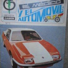 Coches: REVISTA EL MEDICO Y EL AUTOMOVIL NUMERO 11 FEBRERO 1971 RF O1. Lote 38060129