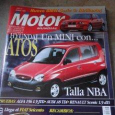 Coches: REVISTA AUTOMOVIL MOTOR MUNDIAL NUMERO 614 MARZO 1998 RF O1. Lote 38168953