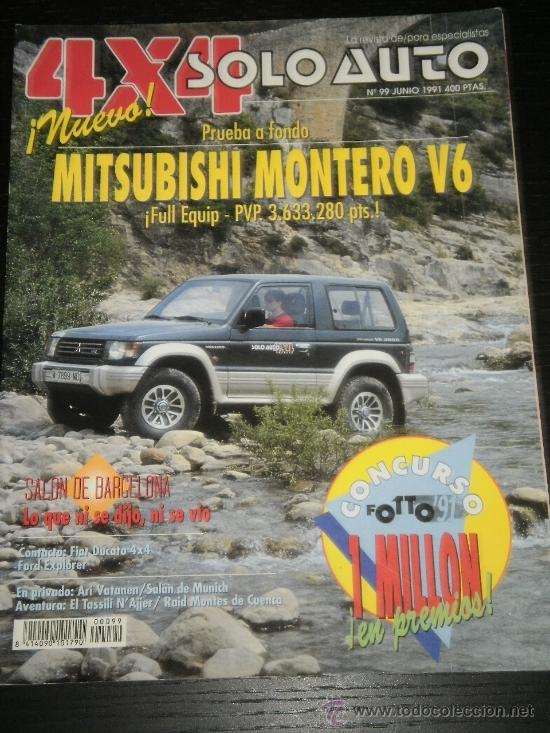 SOLO AUTO 4x4 - Nº 99 - JUN 1991 - MITSUBISHI MONTERO V6 / FIAT DUCATO 4x4  / FORD EXPLORER