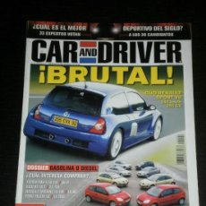 Coches: CAR AND DRIVER Nº 92 - RENAULT CLIO V6 / JAGUAR XKR 4.2 / MASERATI COUPE F1 / JEEP CHEROKEE RENEGADE. Lote 38289864