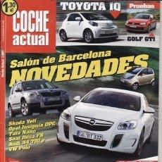 Coches: REVISTA COCHE ACTUAL Nº 1097 AÑO 2009. PRU. VW GOLF GTI 2.0 TSI. RENAULT MÉGANE R 26R. NISSAN GTR.. Lote 38359085