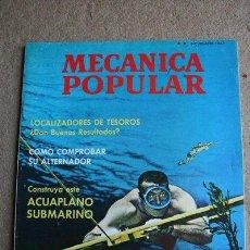 Coches: MECÁNICA POPULAR. REVISTA. NOVIEMBRE DE 1967. LOCALIZADORES DE TESOROS.. Lote 38428004
