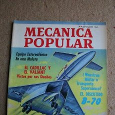 Coches: MECÁNICA POPULAR. REVISTA. SEPTIEMBRE DE 1963. EL DISCUTIDO B-70.. Lote 263245505