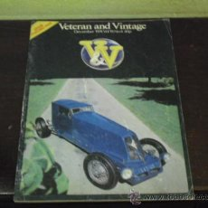 Coches: VETERAN AND VINTAGE - 1974 -. Lote 38481676