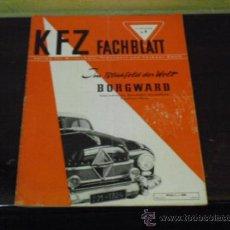 Coches: K F Z FACHBLATT Nº 7 - 1951 - BMW 343 - BMW R 51/3 - R 67 - WALBA -. Lote 38481876