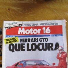 Autos - MOTOR 16. Nº 126 (1986). FERRARI GTO..................................... - 38941597