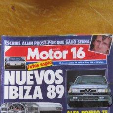 Coches: MOTOR 16. Nº 264 (1988).IBIZA 89 Y ALFA 75............................................. Lote 38941814