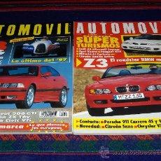 Coches: AUTOMÓVIL NºS 215 Y 231 CON REGALO DE TODO LO QUE QUISO SABER SOBRE EL CITROËN SAXO. BE.. Lote 38962048